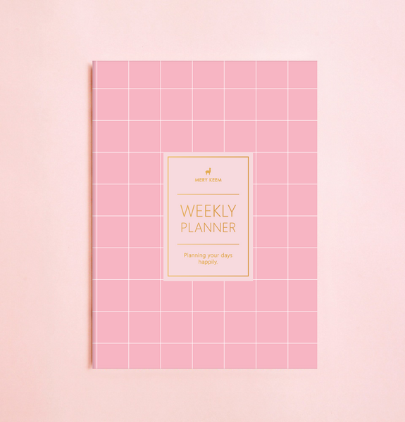 NEW! PINK LEMON WEEKLY PLANNER WITH PVC COVER