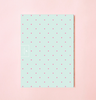 NEW! NEON POLKA DOT IN LIGHT BLUE WEEKLY PLANNER WITH PVC COVER