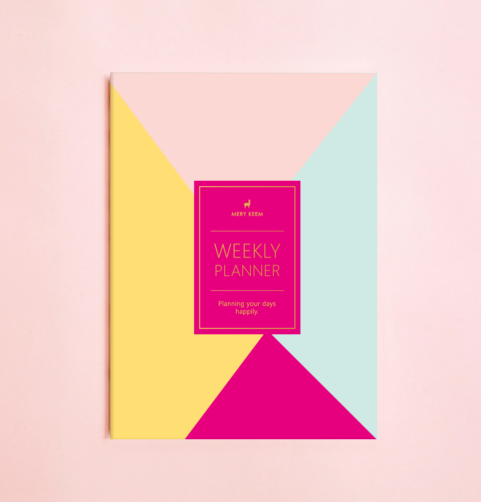 NEW! COLORFUL RETRO WEEKLY PLANNER WITH PVC COVER