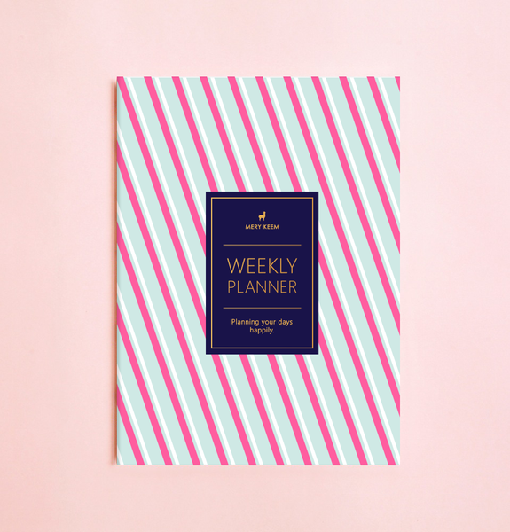 NEON STRIPES WEEKLY PLANNER