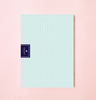 NEW! SQUARE DOTS IN LIGHT BLUE WEEKLY PLANNER WITH PVC COVER