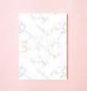 NEW! WHITE MARBLE WEEKLY PLANNER WITH PVC COVER