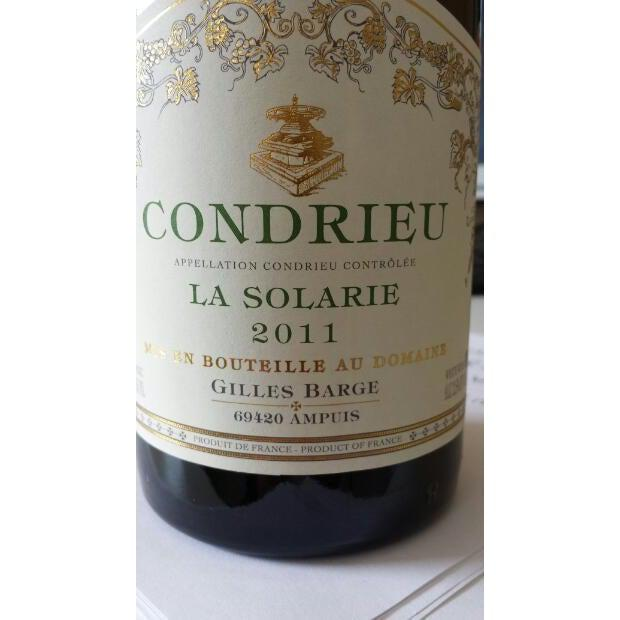 Gilles Barge Condrieu 'La Solarie' 2011-White Wine-World Wine