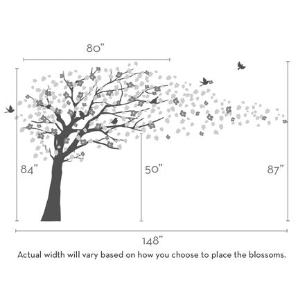 Cherry Blossom Tree Decal - Elegant Style