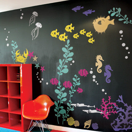 Under The Sea Wall Decals Simple Shapes