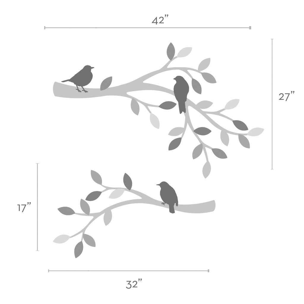 Patterned Branches and Birds Wall Sticker