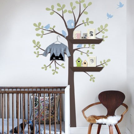 Shelving Tree Wall Decals - Three Colors