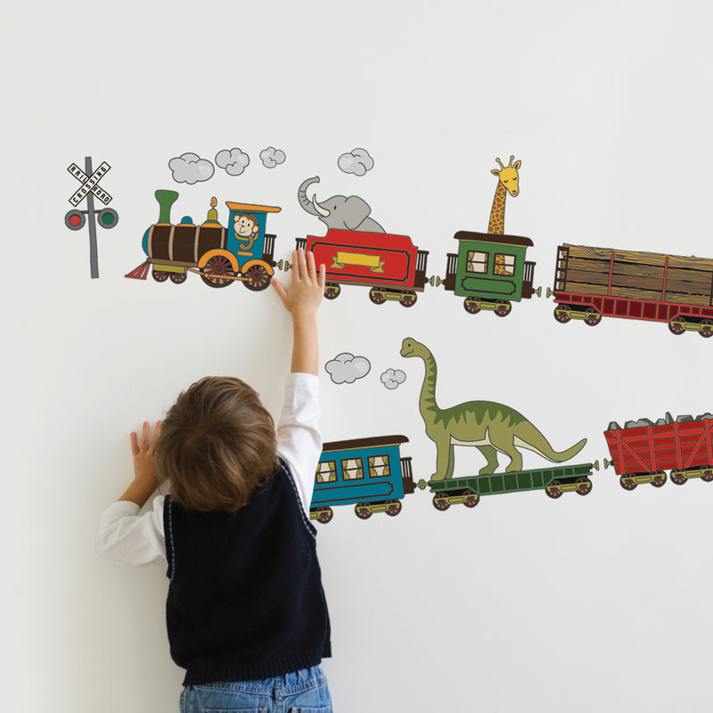 Animal Train Wall Stickers