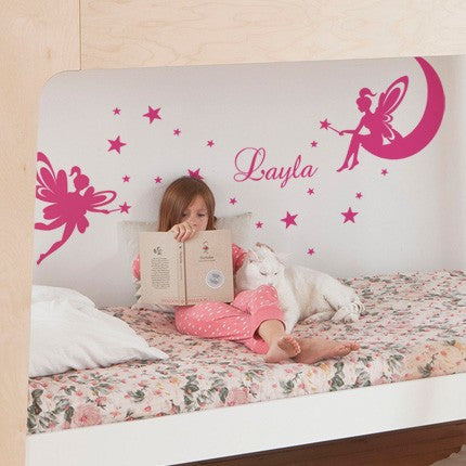 Fairy Wall Decal with Personalized Name
