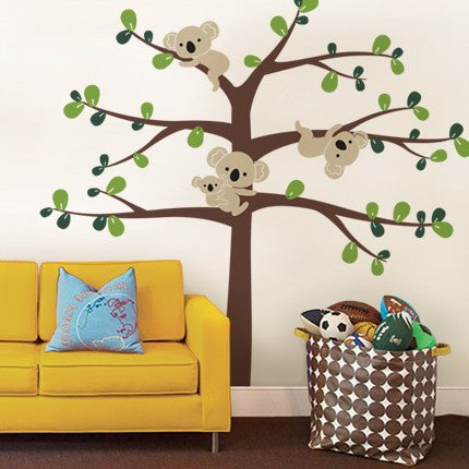 Tree Wall Decals with Koalas