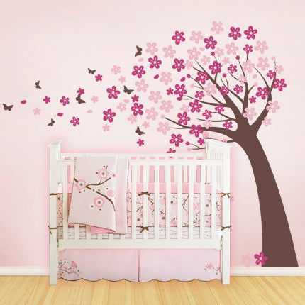 Cherry Blossom Tree Decal - Cute Style