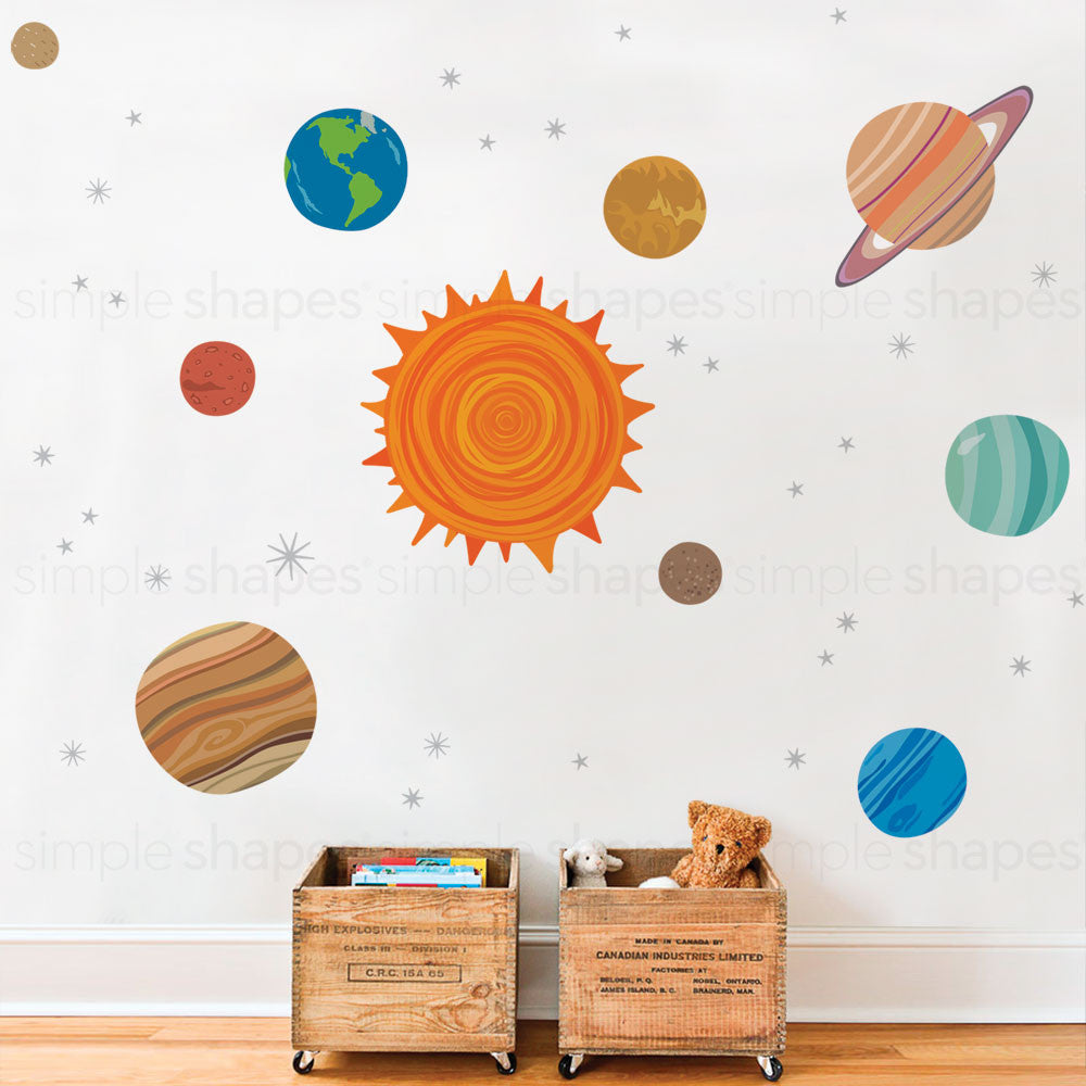 Planets Peel and Stick Wall Stickers