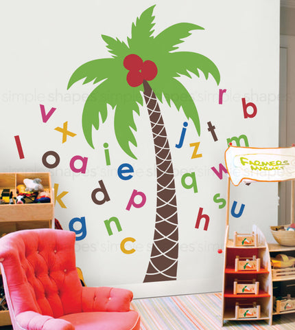 Alphabet Palm Tree Wall Decal