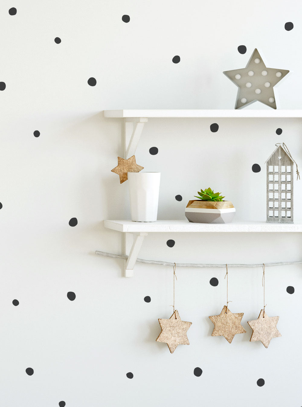 Irregular Dots Wall Decals (0.75 - 1 inch dots)