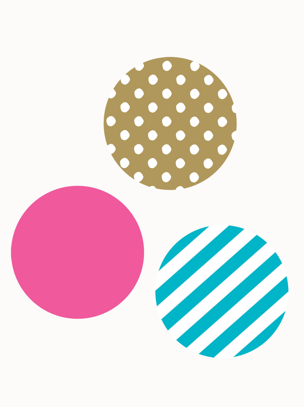 Mixed Patterned Dots Wall Sticker