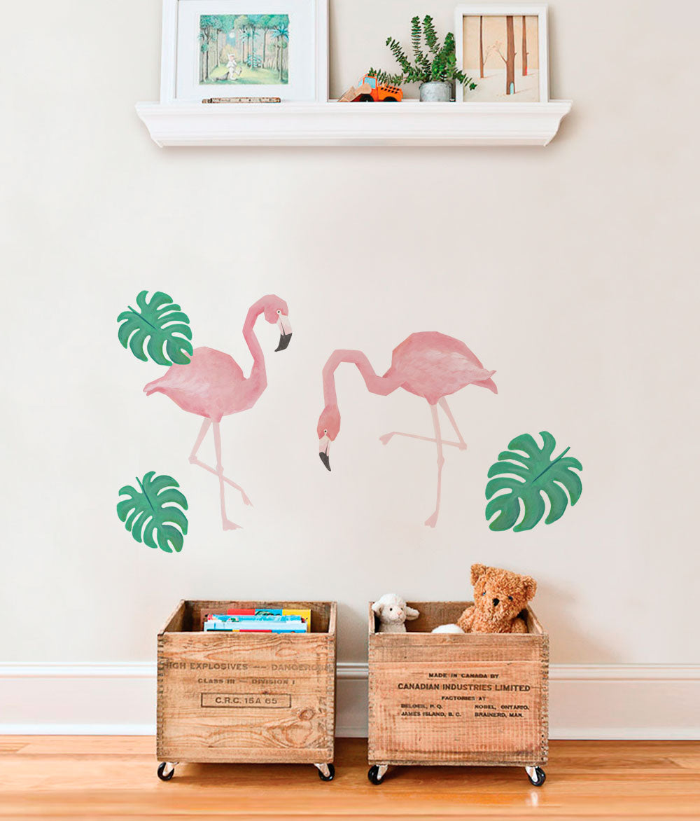 Wild Animals, Tropical Leaves Wall Sticker