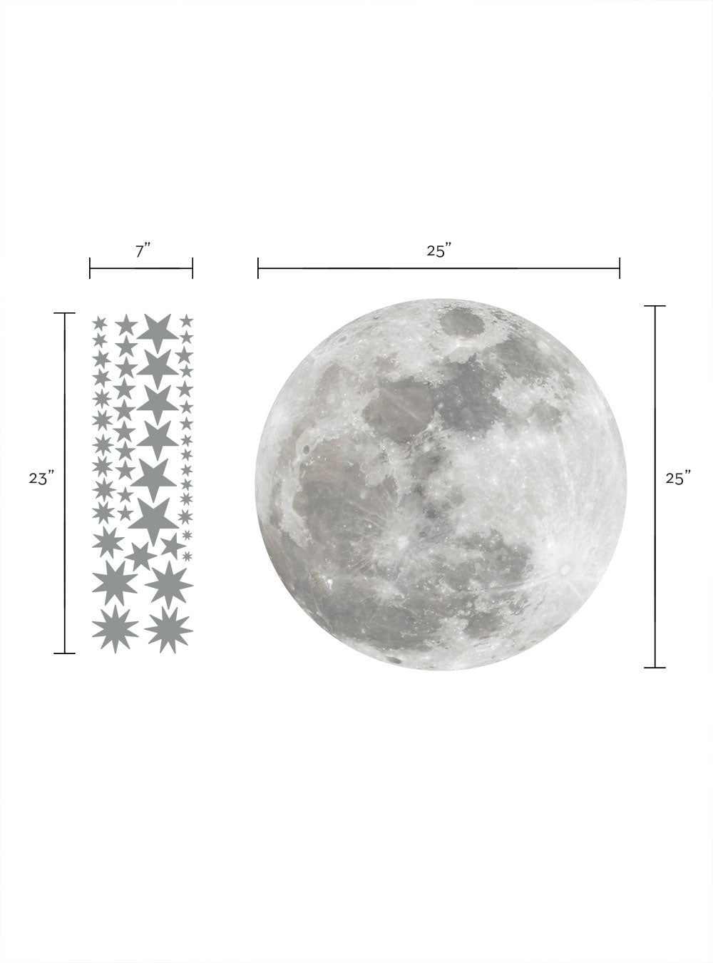 Moon and Stars - Wall Sticker and Wall Decals
