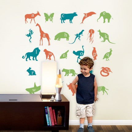 Alphabet Animals Wall Decals