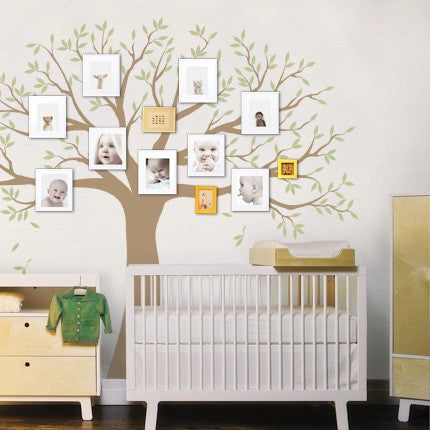 Family Tree Decal - Two Colors - Wall Decals