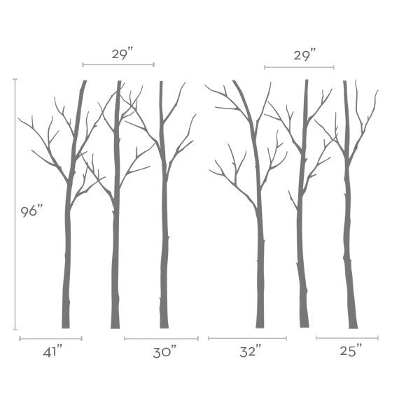 Winter Tree Decal
