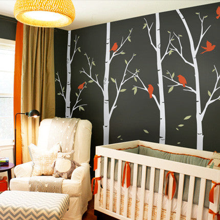 Birch Tree Wall Decals Sticker Set