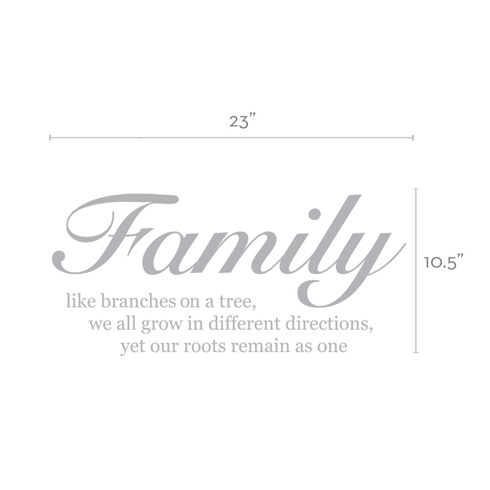 Family Like Branches on a Tree - Quote Lettering Wall Decal