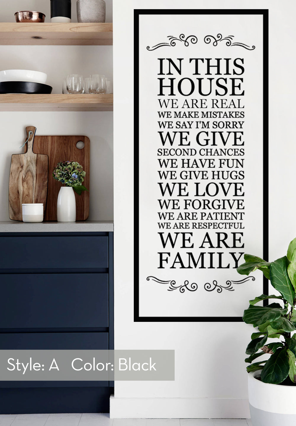 In This House Wall Decal, House Rules Decal