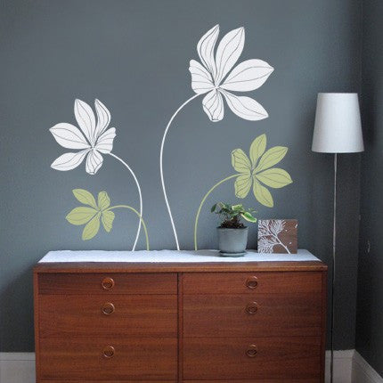 Cyclamen Flower Decals