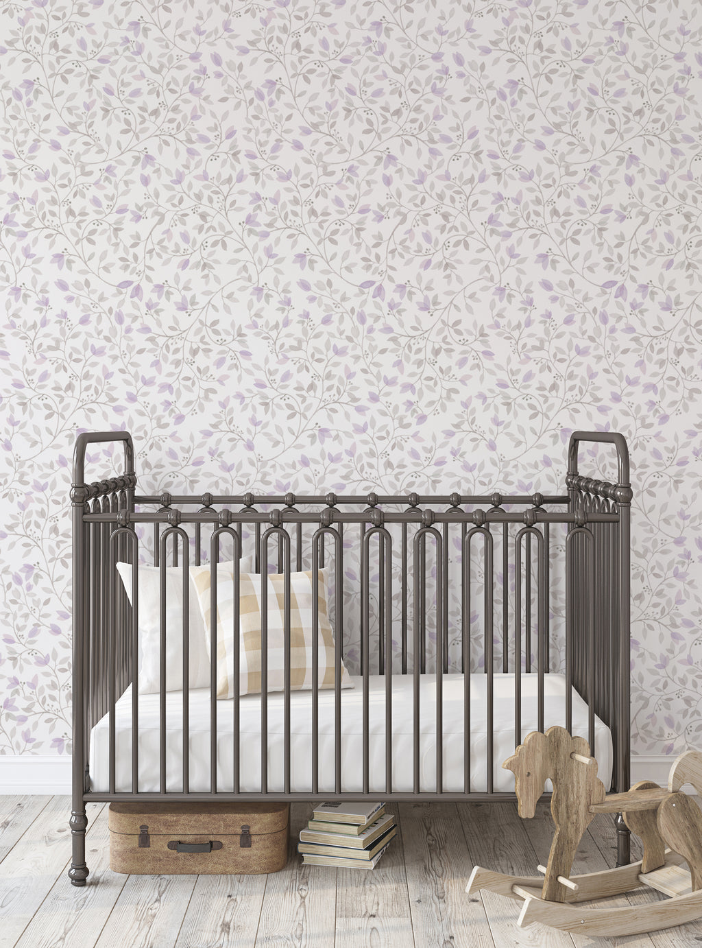 Floral Vines Watercolor Wallpaper - Peel and Stick