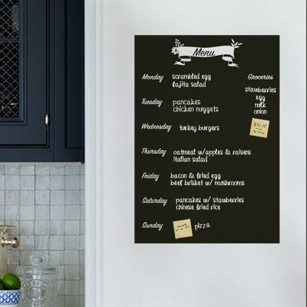 Chalkboard Meal Planner - Wall Decals
