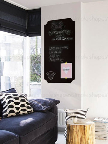 Chalkboard Wall Decal - Large - Elegant Style