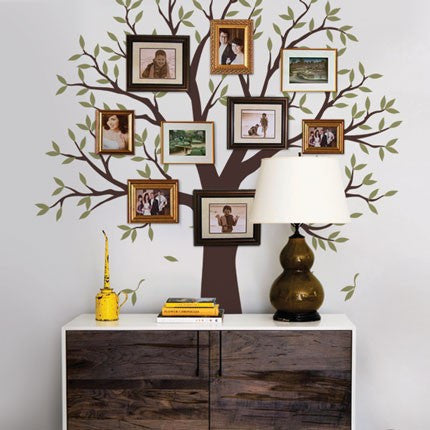 Narrow Family Tree Decal - Two Colors - Wall Decals