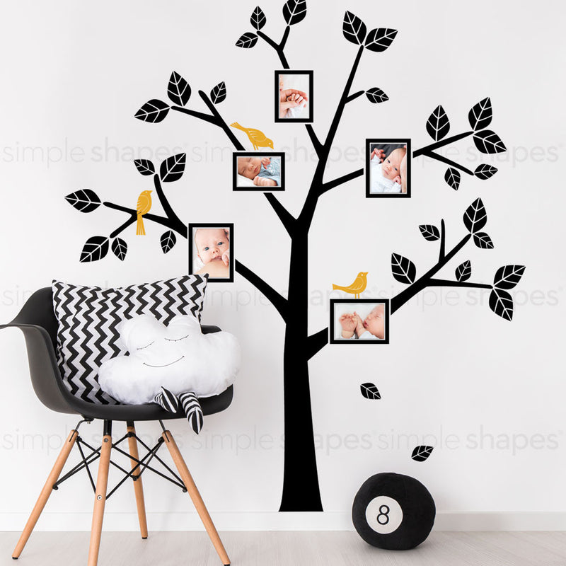 Simple Modern Family Tree Wall Decal