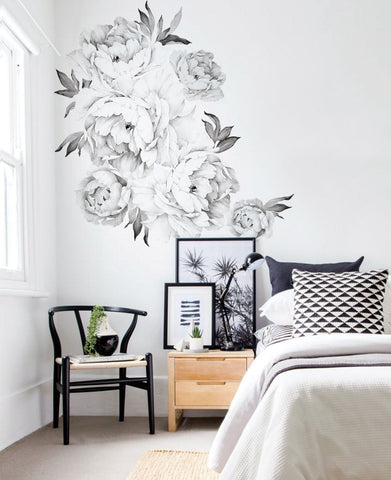 Peony Flower Wall Stickers – Simple Shapes