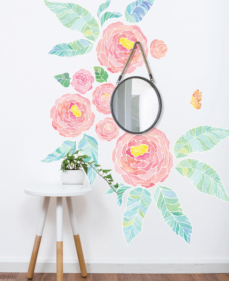 Spring Garden Flower Wall Stickers