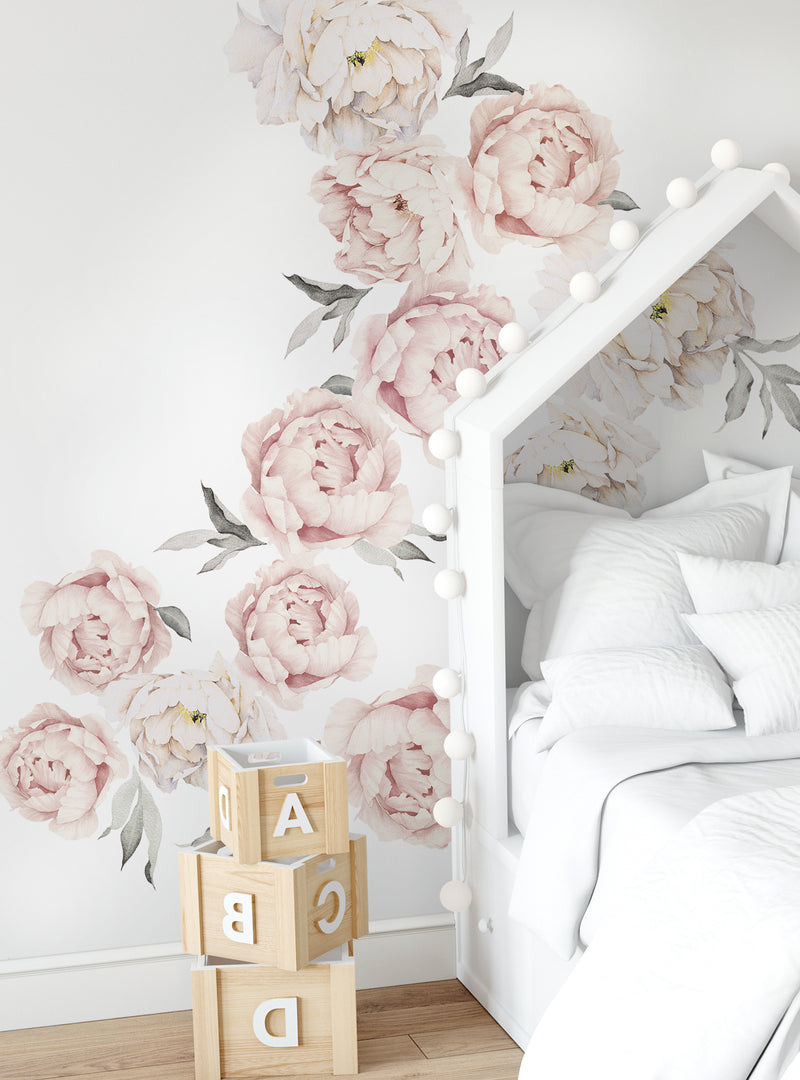 Peony Flower Wall Stickers-LARGE set