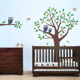 Tree Decal with Owls and Birds