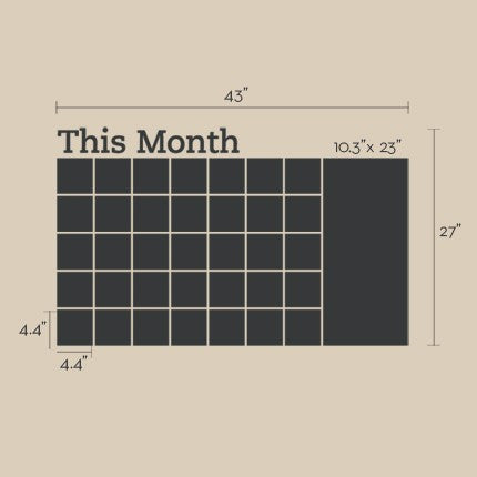 Chalkboard Calendar Decal with Memo