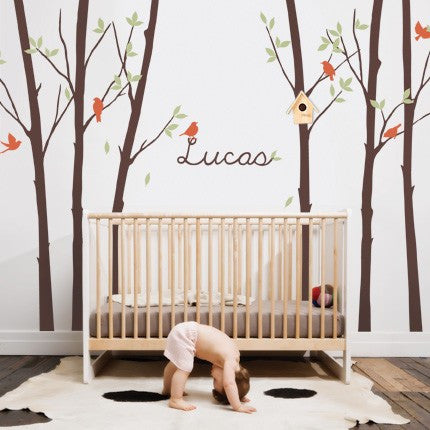 Tree Wall Decal with Personalized Name