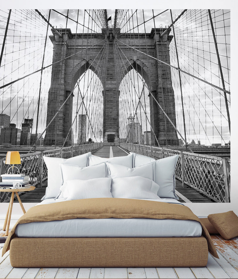 Brooklyn Bridge Photograph Wall Art - Peel and Stick Wallpaper