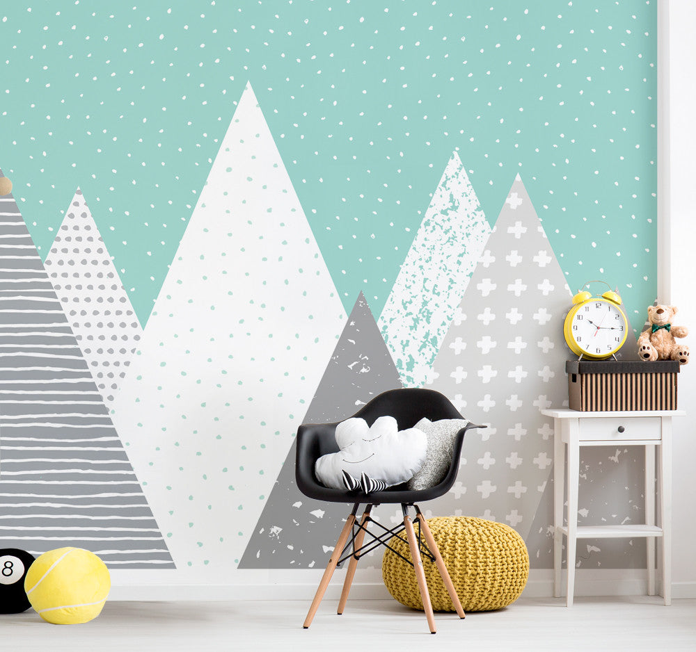 Kids Mountains Wallpaper - Peel and Stick