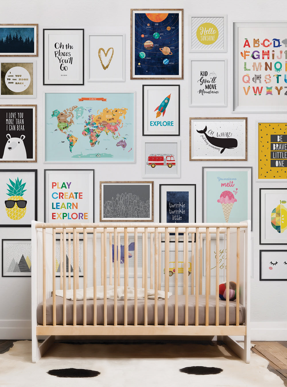 Kids Frames Mural Wall Art Wallpaper - Peel and Stick