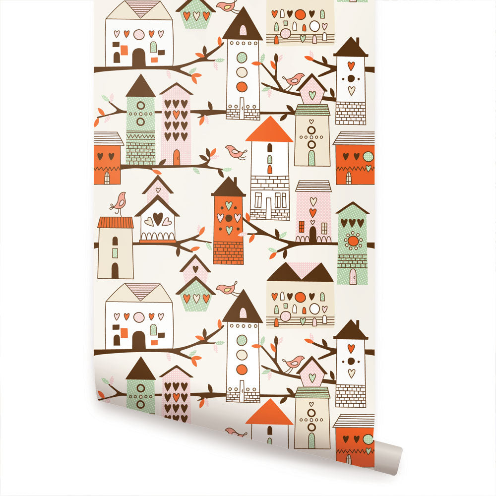 Birdhouse Wallpaper - Peel and Stick