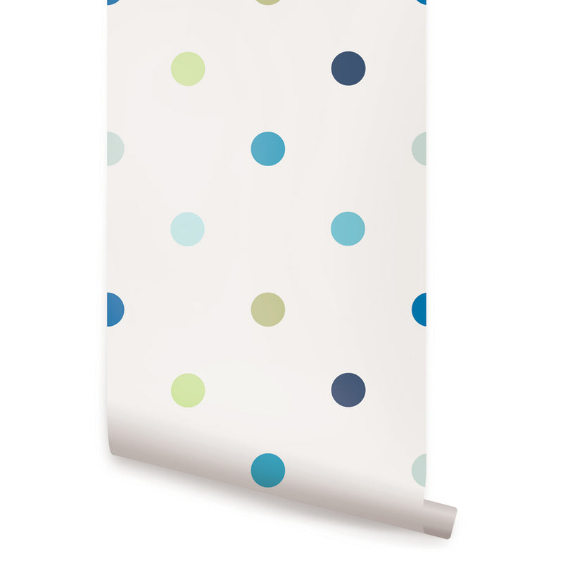 POLKA DOT WALLPAPER - PEEL AND STICK WALLPAPER
