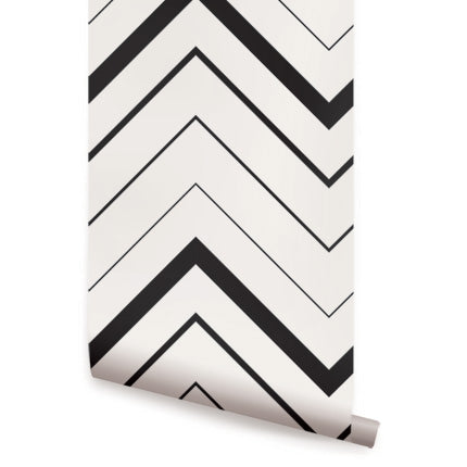 CHEVRON BOLD WALLPAPER - PEEL AND STICK