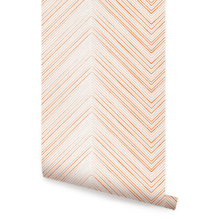 CHEVRON LINES WALLPAPER - PEEL AND STICK