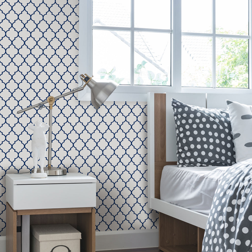 MOROCCAN SMALL PATTERN WALLPAPER - PEEL AND STICK