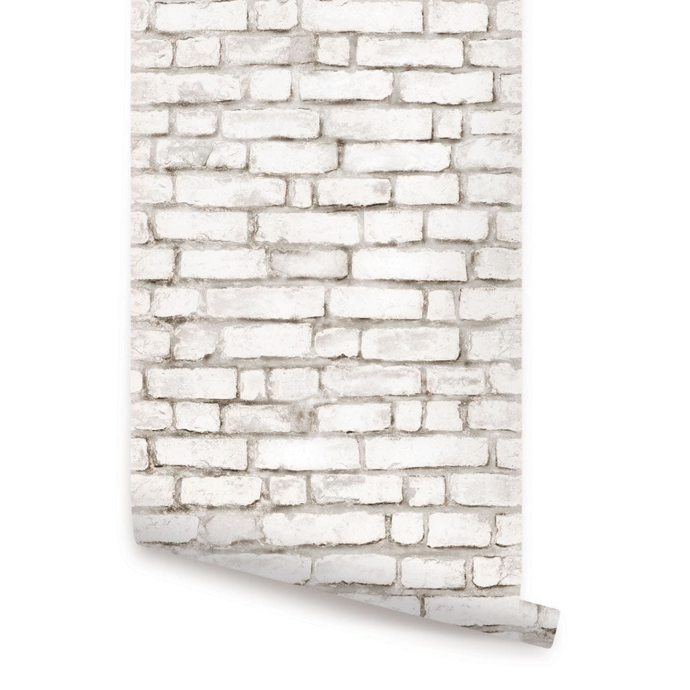 Brick Wallpaper - Peel and Stick - Simple Shapes