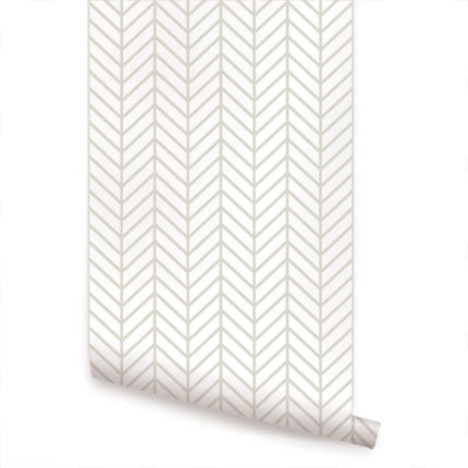 HERRINGBONE LINE - PEEL AND STICK WALLPAPER