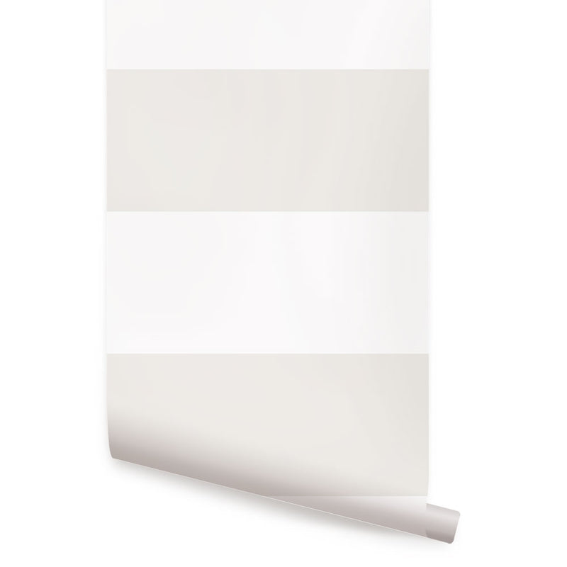 HORIZONTAL STRIPE BOLD WALLPAPER - PEEL AND STICK WALLPAPER